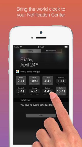 تطبيق World Time Widget لعرض التوقيت العالمي