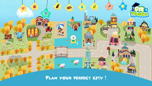 تطبيق Hoopa City لتعليم الأطفال عناصر المدن