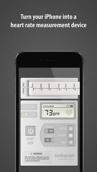 تطبيق Cardiograph Classic لحساب دقات القلب