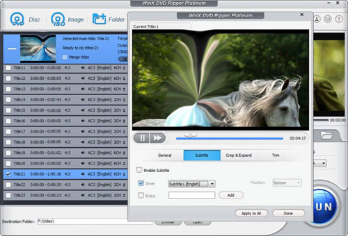 برنامج WinX DVD Ripper Platinum