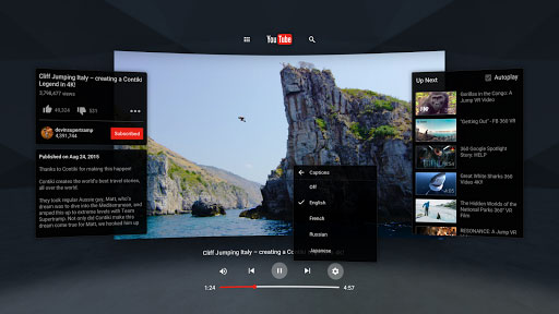 تطبيق YouTube VR لمشاهدة يوتوب بتقنية الواقع الافتراضي