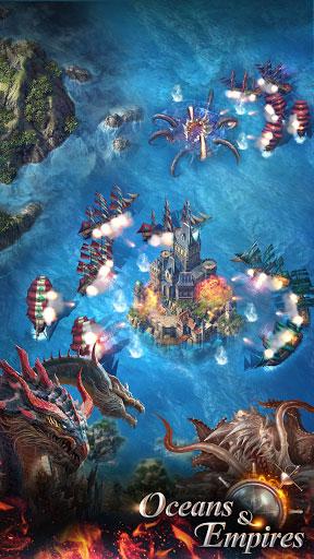 لعبة Oceans & Empires حروب السفن البحرية الاستراتيجية