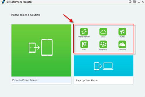 برنامج iSkysoft Phone Transfer لنقل المحتوى من هاتف إلى آخر