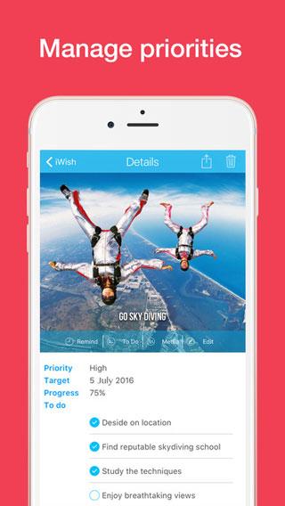 تطبيق iWish لتسجيل أحلامك ورغباتك
