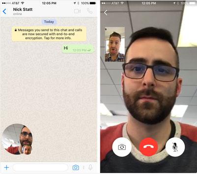 رسمياً : واتس آب يدعم المكالمات المرئية بالفيديو Video Call للآيفون و الأندرويد و ويندوز فون !