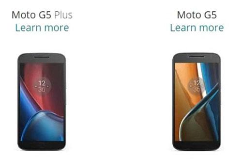 تسريب تفاصيل هواتف موتورولا Moto G5 و G5 Plus