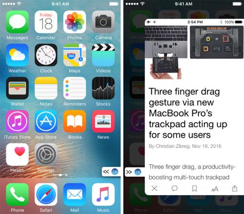 أداة PullOver للوصول إلى أي تطبيق مفضل من أي مكان على الشاشة