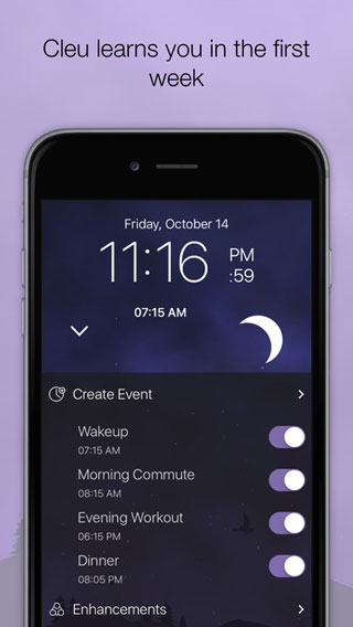 تطبيق Cleu منبه ومؤقت بمزايا وتصميم رائع