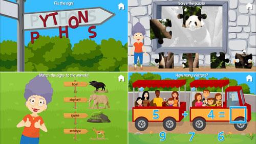 تطبيق At the Zoo مع الجدة والجد التعليمي
