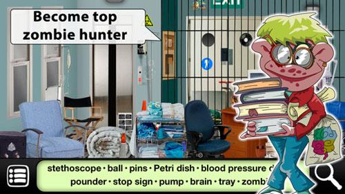 لعبة Hidden Objects: Zombies Escape للبحث عن الأشياء