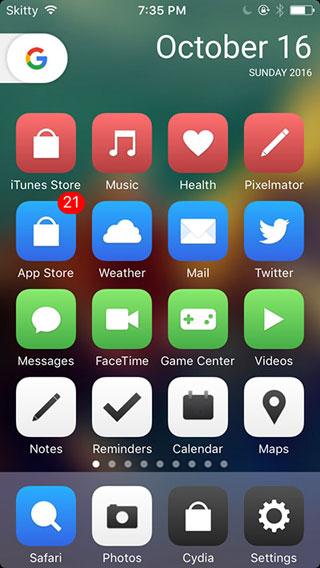 أداة Pixel Launcher لعرض لانشر جوجل على الأيفون