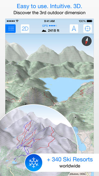 تطبيق Maps 3D PRO للحصول على خريطة ثلاثية الأبعاد