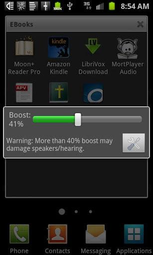 تطبيق Speaker Boost لزيادة صوت مكبر صوت الهاتف