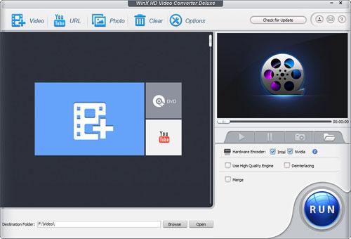 برنامج WinX HD Video Converter Deluxe لتحويل وتحرير مقاطع الفيديو