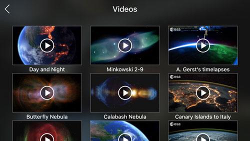تطبيق Outland للحصول على مشاهد من الفضاء