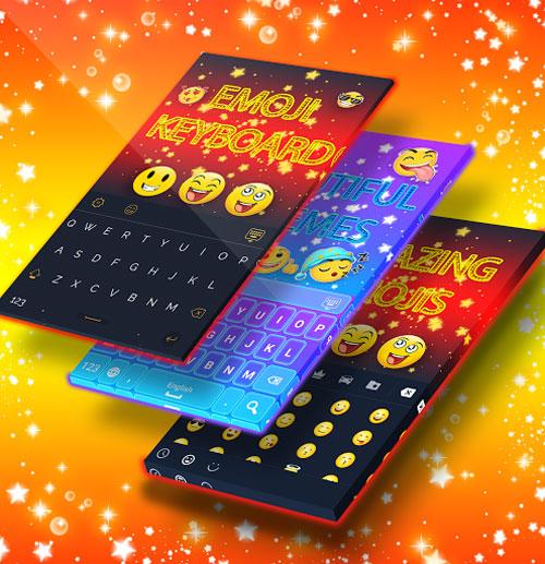 تطبيق Emoji Keyboard Pro لوحة مفاتيح مع إيموجي كثيرة