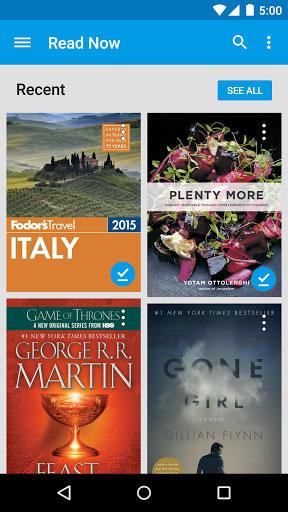 تطبيق كتب Google Play للحصول على الكثير من الكتب