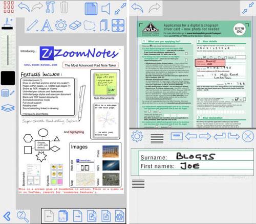 تطبيق ZoomNotes لإدارة وتحرير الملاحظات وPDF