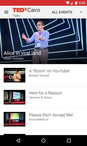 تطبيق TEDxCairo للوصول إلى تجارب المبدعين في مصر