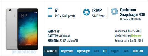 هاتف Xiaomi Redmi 3s