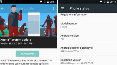 هاتف Xperia X بإصدار الأندرويد 7.0 يدعم تقنية VoLTE، تعرفوا عليه !