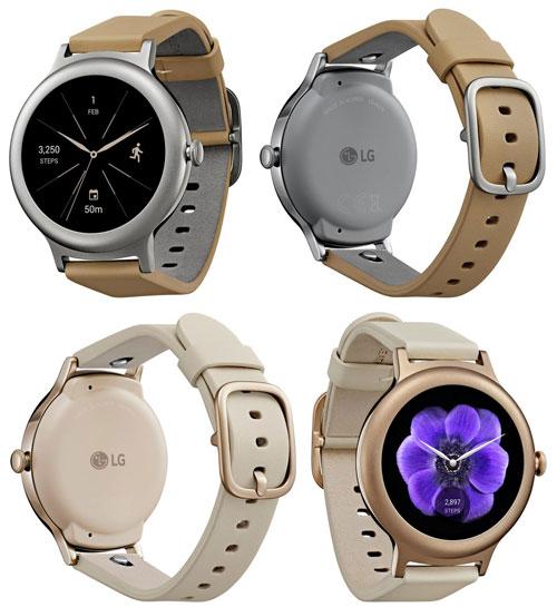 تسريب صور ساعة LG Watch Style باللون الذهبي والفضي