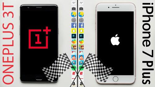 تحدي السرعة بين الأيفون 7 وOnePlus 3T - أيهما أفضل ؟