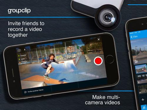 تطبيق GroupClip لتسجيل وتحرير فيديو جماعي