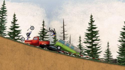 لعبة Stickman Downhill لسباق الدراجات