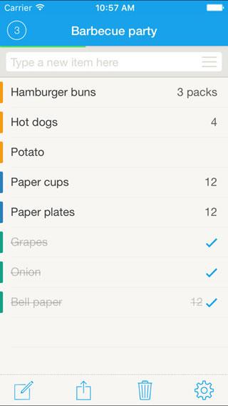 تطبيق Grocery List للتذكير بقائمة المشتريات