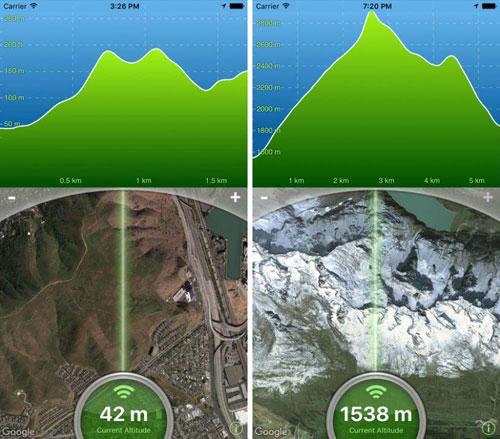 تطبيق Terrain Radar Altimeter لمعرفة طول الجبال