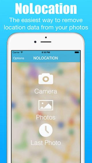 تطبيق NoLocation لحذف مكان التقاط الصور من تفاصيلها