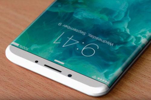 شاشة منحنية الأطراف في الأيفون 8 - صورة تخيلية