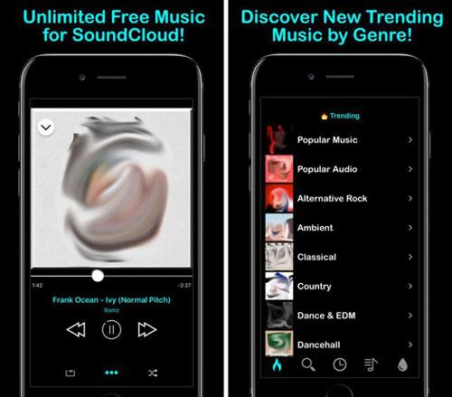 تطبيق WOOSIK للوصول إلى صوتيات SoundCloud