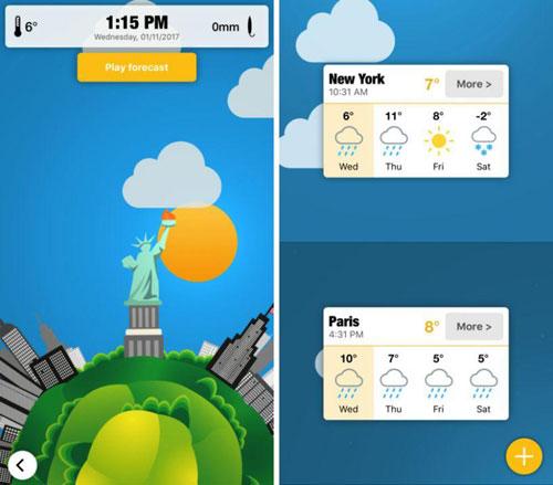 تطبيق WeatherWheel لمعرفة ومتابعة حالة الطقس