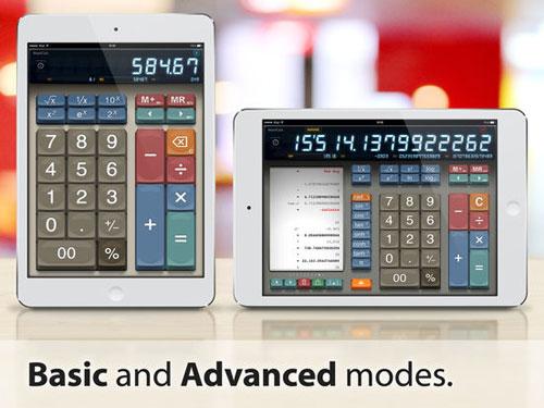 تطبيق MaxiCalc Pro حاسبة كلاسيكية للآيباد