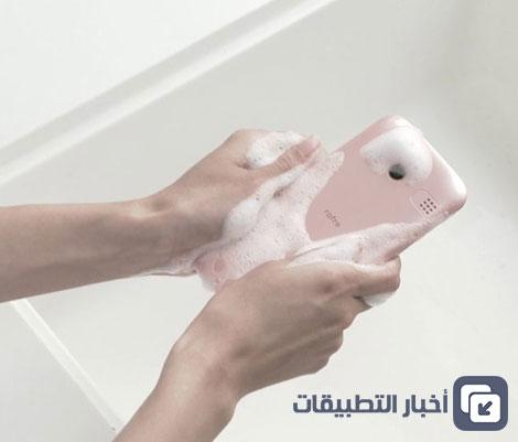 هاتف Kyocera rafre : هاتف ذكي يمكن غسله بالماء و الصابون !