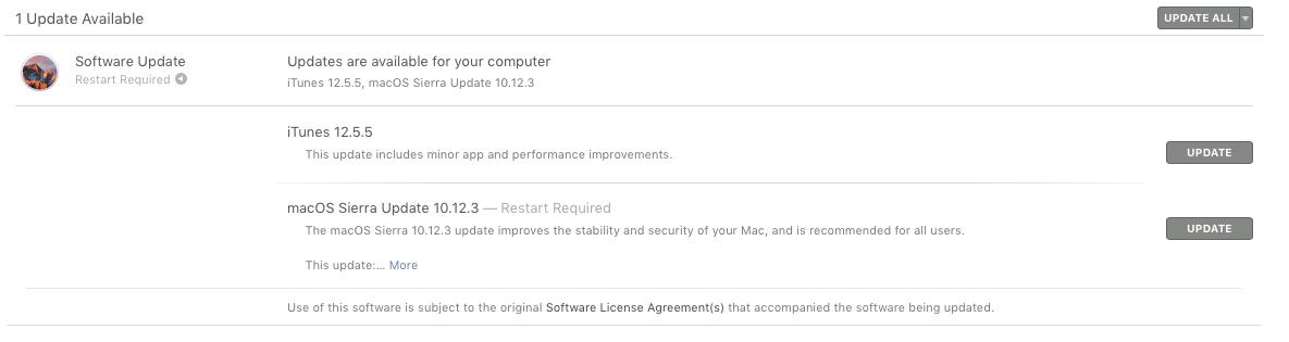 تحديث برنامج الأيتونز الإصدار 12.5.5