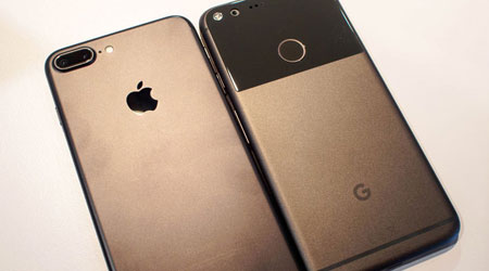 خمسة أسباب تجعل جهاز ابل ايفون 7 أفضل من جهاز جوجل بيكسل XL !