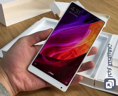 بالصور - النسخة البيضاء من هاتف Xiaomi Mi Mix بشاشة كاملة بدون حواف !
