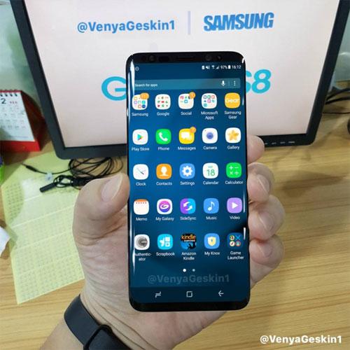 تسريب صور حقيقة لهاتف Galaxy S8 وهو يعمل