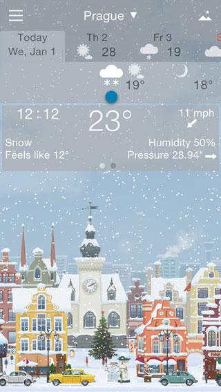 تطبيق YoWindow Weather لمعرفة حالة الطقس