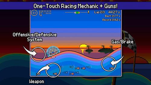 لعبة Pixel Boat Rush لمحبي الألعاب البكسلية