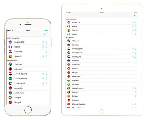 تطبيق Voice Translate لترجمة الأصوات مع دعم العربية