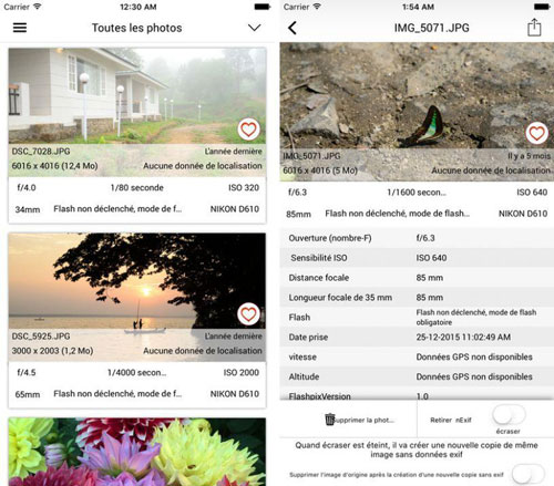 تطبيق EXIF Viewer by Fluntro لمعرفة تفاصيل الصور
