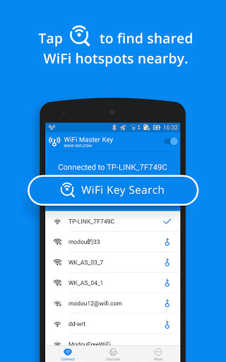 تطبيق WiFi Master Key للوصول إلى شبكات واي فاي مجانية