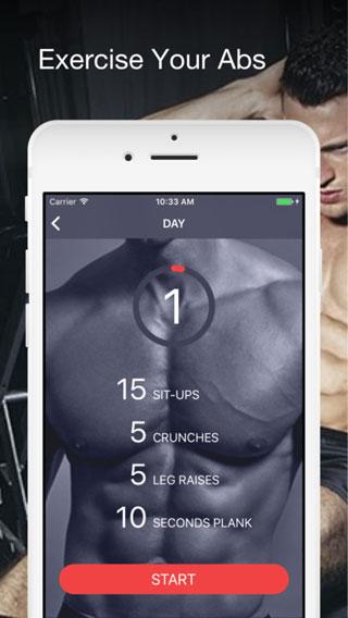 تطبيق Six pack abs لبناء عضلات البطن