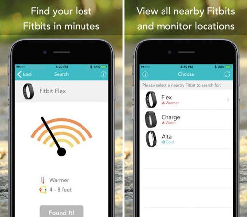 تطبيق Fitbit Finder لإيجاد اكسسوارات الرياضة الضائعة