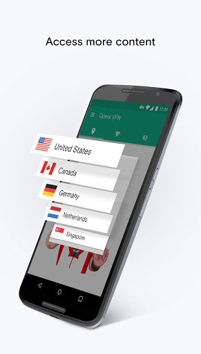 تطبيق Opera Free VPN للحصول على خدمة VPN غير محدودة