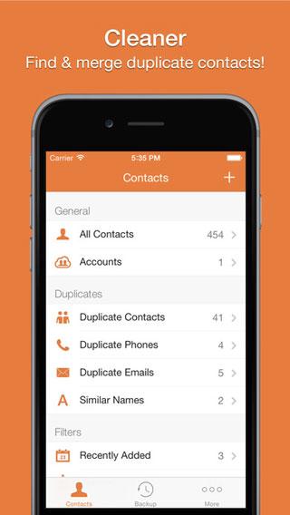 تطبيق Cleaner Pro لإدارة جهات اتصالك